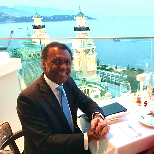 Carl Henry in Monaco - Overlooking the Monte-Carlo Casino